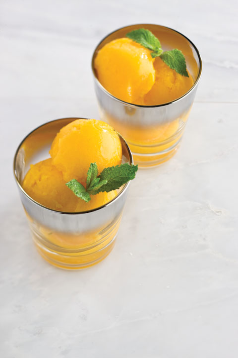 Mango-Mint Sorbet Recipe
