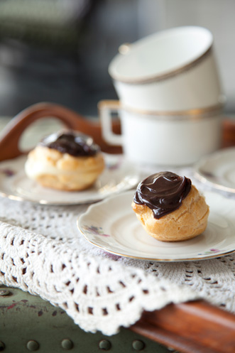 Lighter Mocha-Filled Eclairs Recipe
