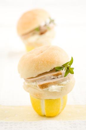 Mini Lemon Pork Sandwiches Recipe