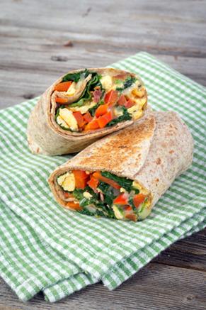 Olivia's Spinach and Egg Breakfast Burritos Recipe