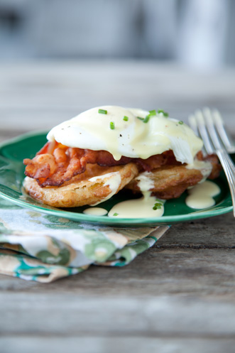 Paula's Fried Green Tomato & Egg Hollandaise Recipe