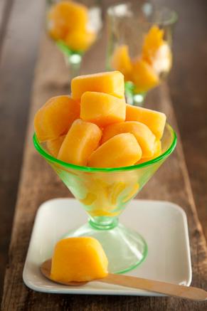 Peach Ice Cubes Recipe