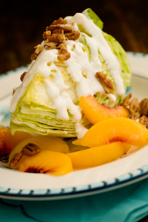 Peach Pecan Iceberg Wedges Recipe