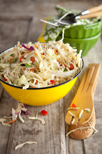 Peppery Coleslaw with Orange Chili Vinaigrette Recipe