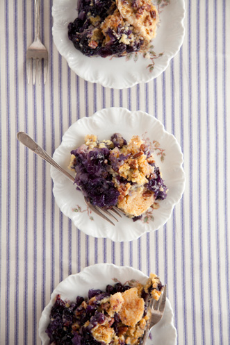 Pineapple Blueberry Crunch Cake Recipe