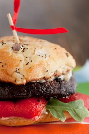 Grilled Portobello Mushroom Burgers With Dill-Mustard Sauce Thumbnail