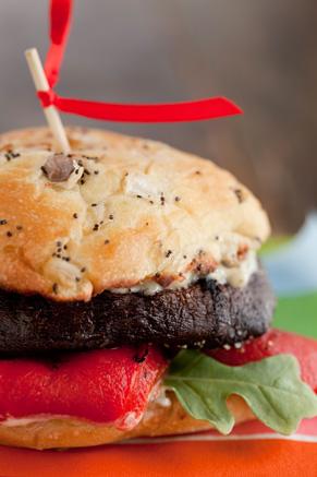 Grilled Portobello Mushroom Burgers With Dill-Mustard Sauce Recipe