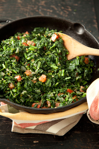 Quick Spicy Collards Recipe