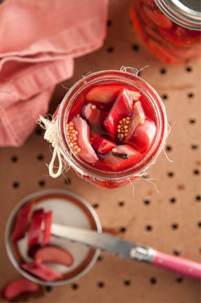 Rhubarb Refrigerator Pickles Recipe
