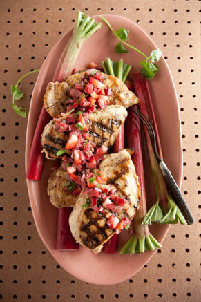 Grilled Chicken with Rhubarb Salsa Recipe