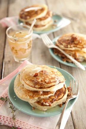 Ricotta Infused Pancakes and Thyme Syrup Recipe