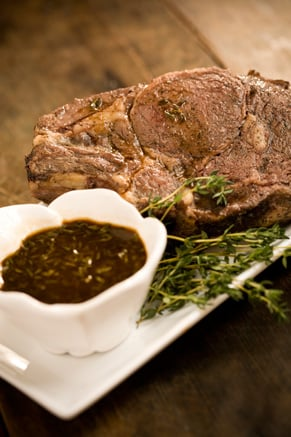 Roast Prime Rib of Beef with a Rich Pan Sauce Recipe