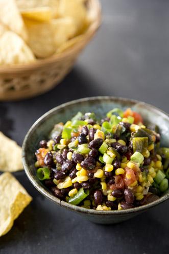 Roasted Corn, Pepper, and Black Bean Salsa Thumbnail