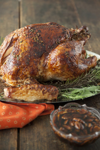 Roasted Turkey with Fried Pecan-Bourbon Glaze Thumbnail