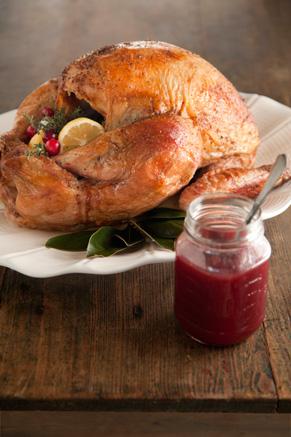 Roasted Turkey with Maple Cranberry Glaze Recipe