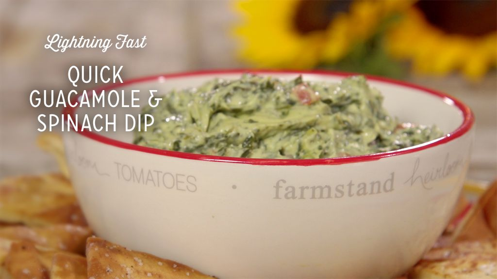 Quick Guacamole and Spinach Dip Recipe