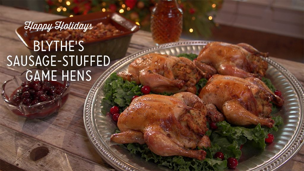 Blythe's Sausage-Stuffed Game Hens Recipe
