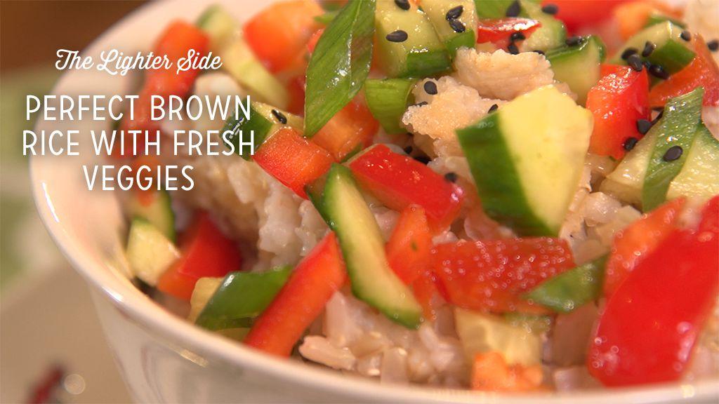 Perfect Brown Rice With Fresh Veggies Recipe