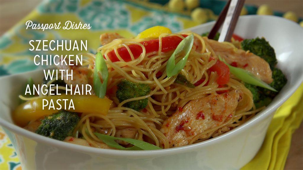 Szechuan Chicken With Angel Hair Pasta Recipe