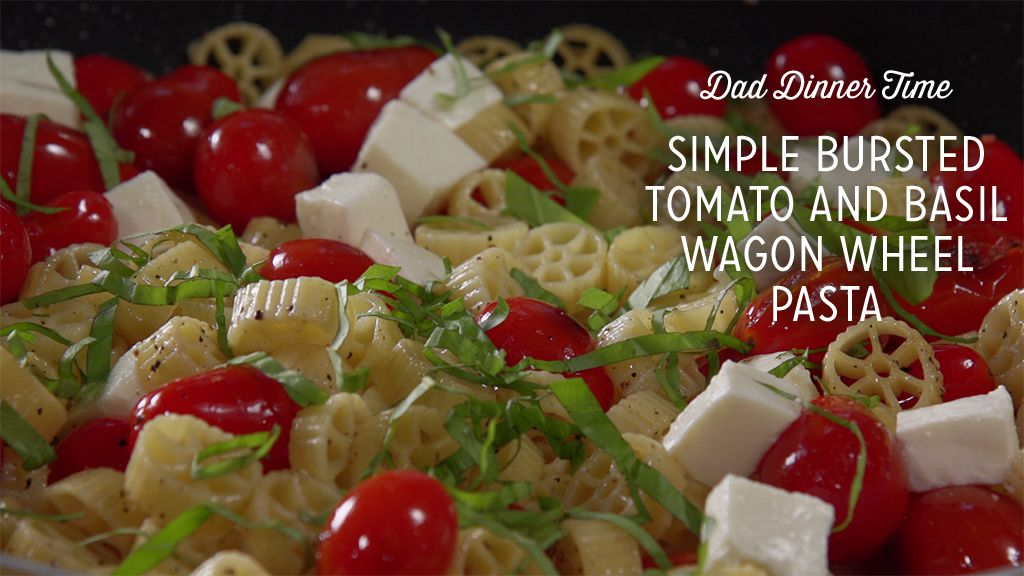 Simple Bursted Tomato Basil Wagon Wheel Pasta Thumbnail