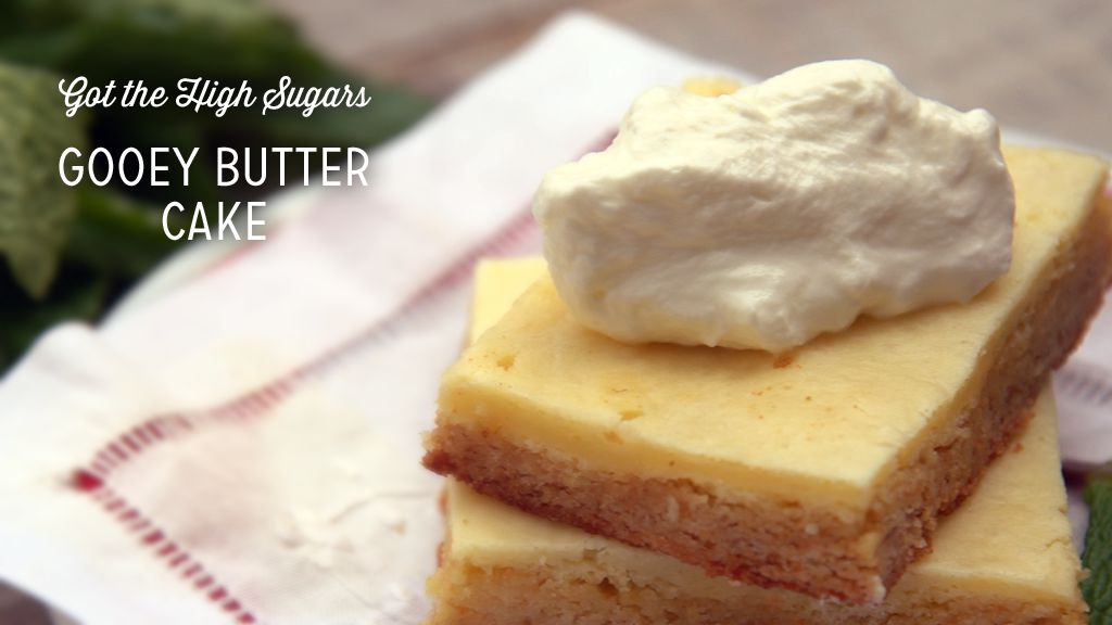 Lower-Sugar Gooey Butter Cake Recipe
