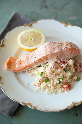 Salmon Filets over Couscous Recipe