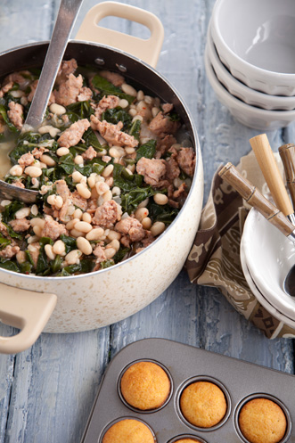 Sausage, White Bean, And Swiss Chard Soup Recipe