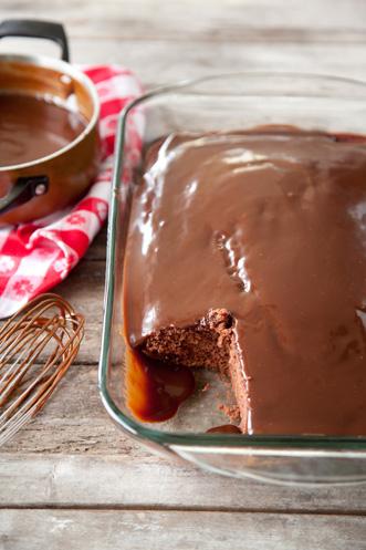 Savannah Chocolate Cake with Hot Fudge Sauce Thumbnail