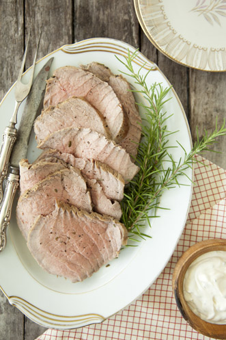 Slow Cooked Roast with Creamy Herb Sauce Recipe