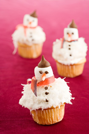 French Snowman Cupcakes Recipe
