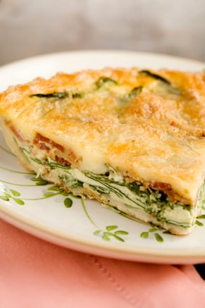 Spinach and Bacon Quiche Thumbnail