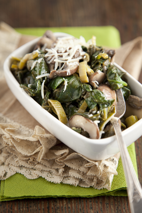 Spinach and Mushrooms Thumbnail