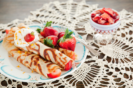 Old Fashioned Crepes with Fresh Strawberry Compote and Grand Marnier Whipped Cream Recipe