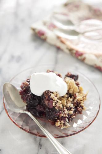 Sweet Black Cherry Crisp Recipe