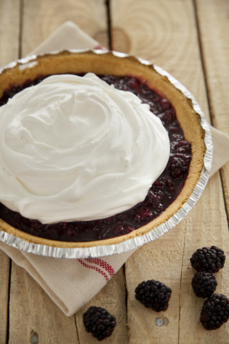 Lighter Ten Minute Blackberry Cream Pie Recipe