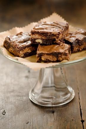 Lighter Toffee Brownies Recipe