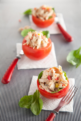 Tomatoes Stuffed With Chicken Salad Recipe