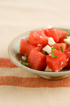 Watermelon Salad With Mint Leaves Thumbnail