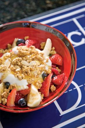 Yummy Yogurt Breakfast Banana Splits Recipe